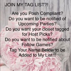 Other - 🌸Join my Tag List???🌸